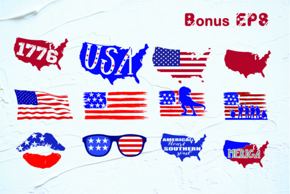 Print on Demand: Fourth of July Display Font By KtwoP - Image 3