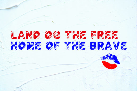 Print on Demand: Fourth of July Display Font By KtwoP - Image 4