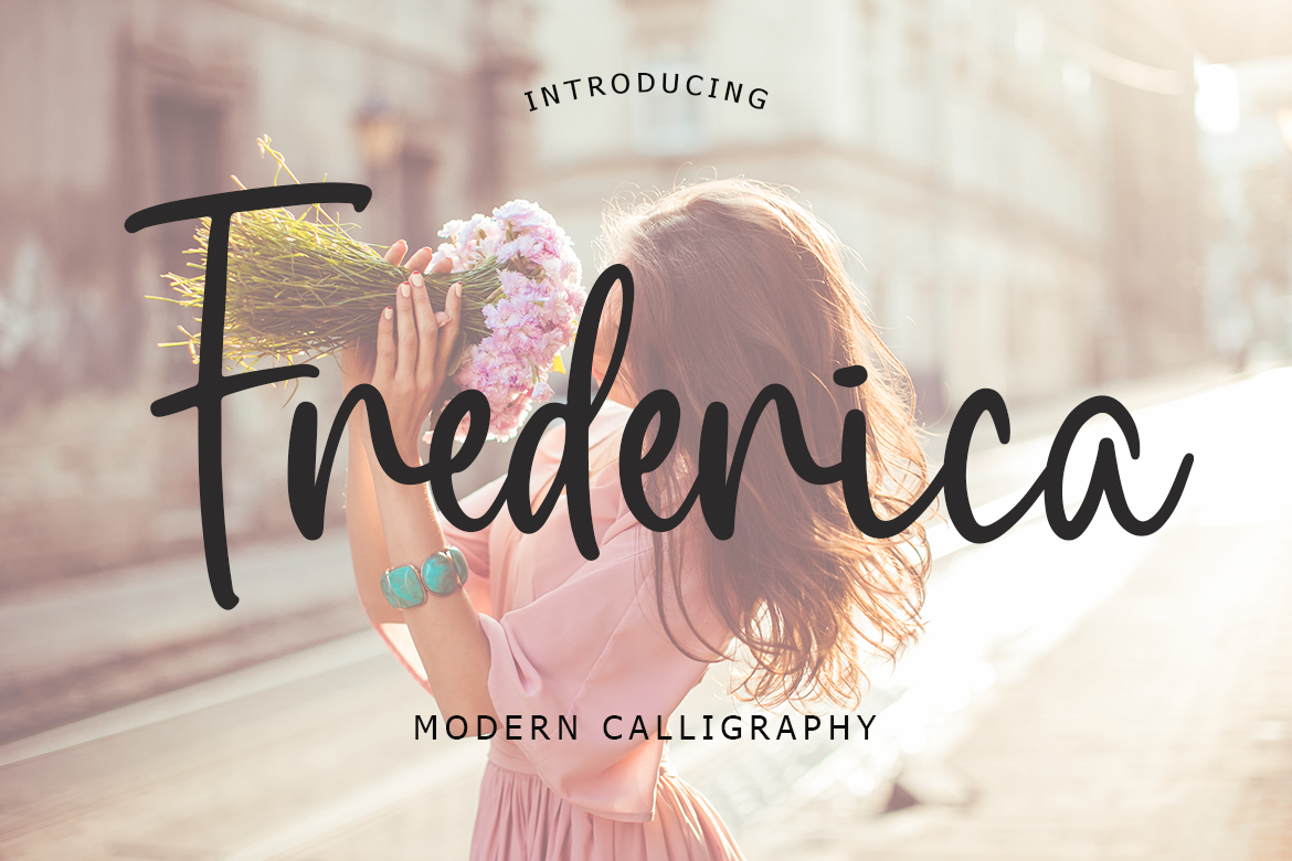 Download Free Frederica Font By Lyanatha Creative Fabrica for Cricut Explore, Silhouette and other cutting machines.