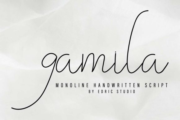 Download Free Gamila Font By Edricstudio Creative Fabrica for Cricut Explore, Silhouette and other cutting machines.