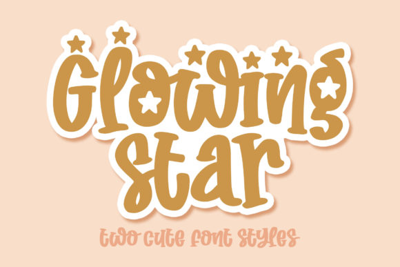 Print on Demand: Glowing Star Display Font By Orenari