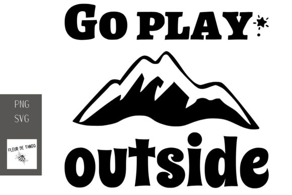 Print on Demand: Go Play Outside Graphic Print Templates By Fleur de Tango