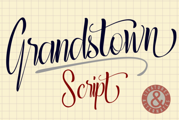 Print on Demand: Grandstown Script Script & Handwritten Font By estede75
