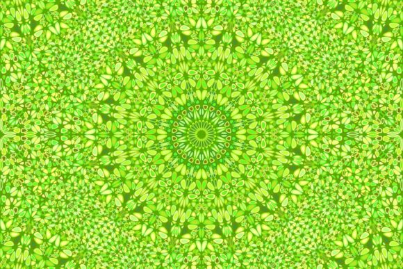 Download Free Green Seamless Floral Mandala Pattern Graphic By Davidzydd for Cricut Explore, Silhouette and other cutting machines.