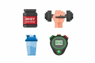 Print on Demand: Gym Symbol Fitness Equipment Vector Icon Graphic Icons By aryo.hadi