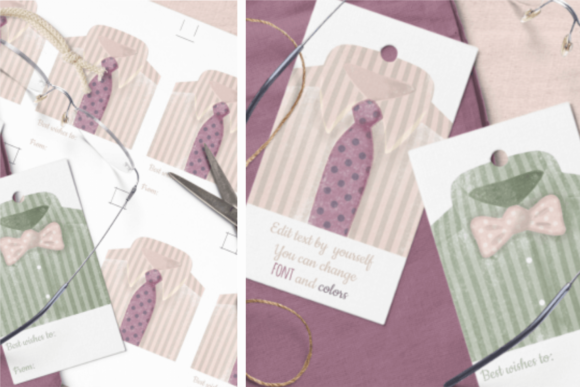 Download Free Hang Tags For Him Templates Graphic By Print Cut Hang Creative SVG Cut Files