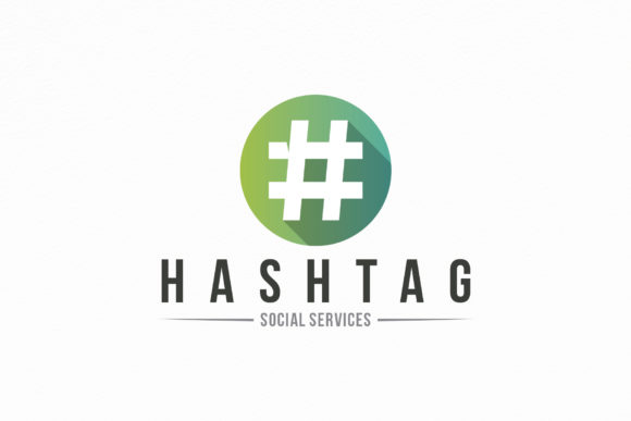 Hashtag Social Logo Template Graphic Logos By vectorwithin
