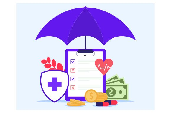 Download Free Health Insurance Online Flat Graphic By Redvy Creative for Cricut Explore, Silhouette and other cutting machines.