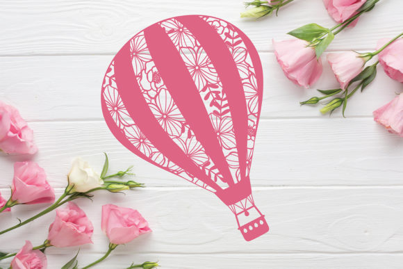 Download Free Hot Air Balloon Cut File Template Graphic By Diycuttingfiles for Cricut Explore, Silhouette and other cutting machines.