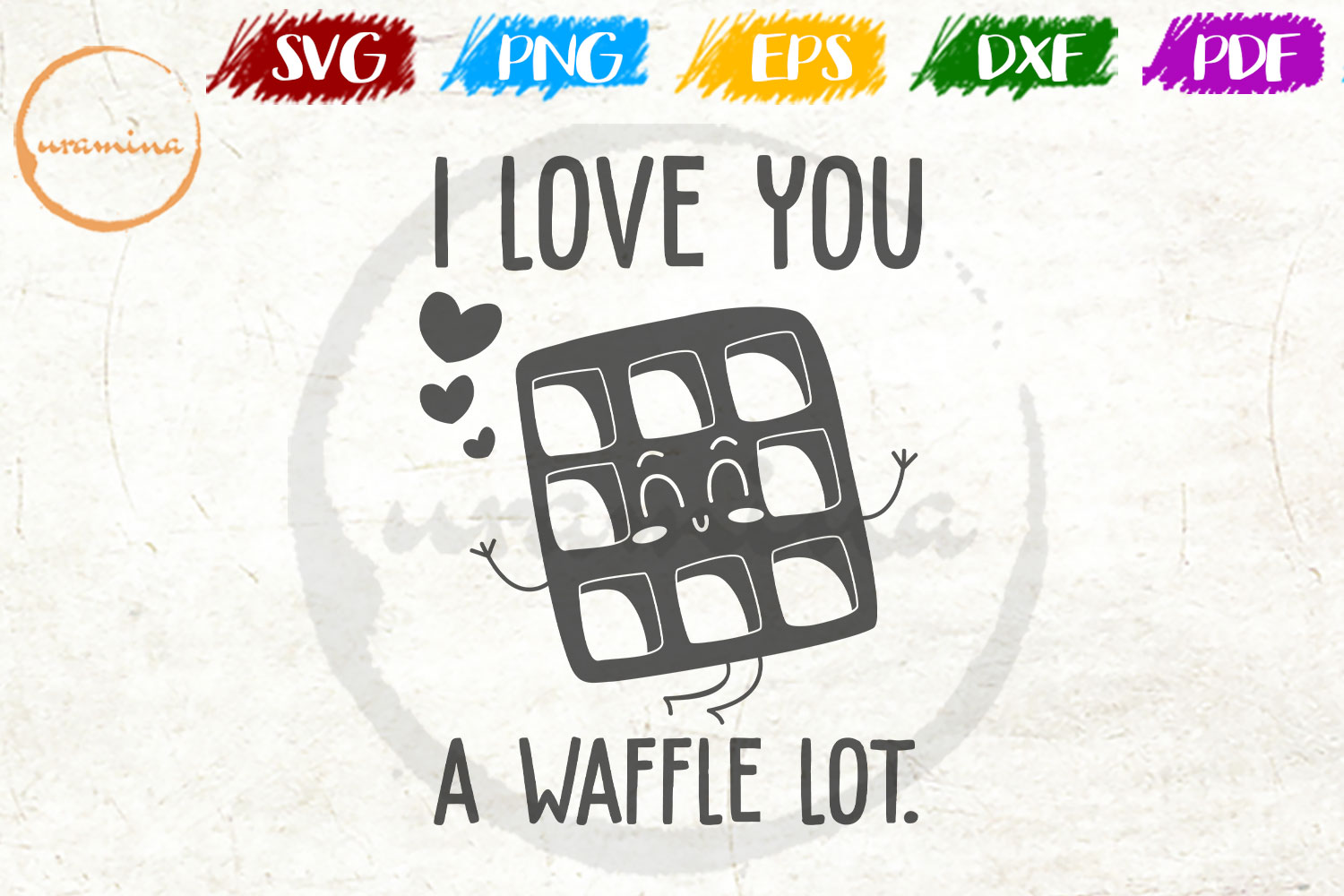 Download Free I Love You A Waffle Lot Graphic By Uramina Creative Fabrica for Cricut Explore, Silhouette and other cutting machines.
