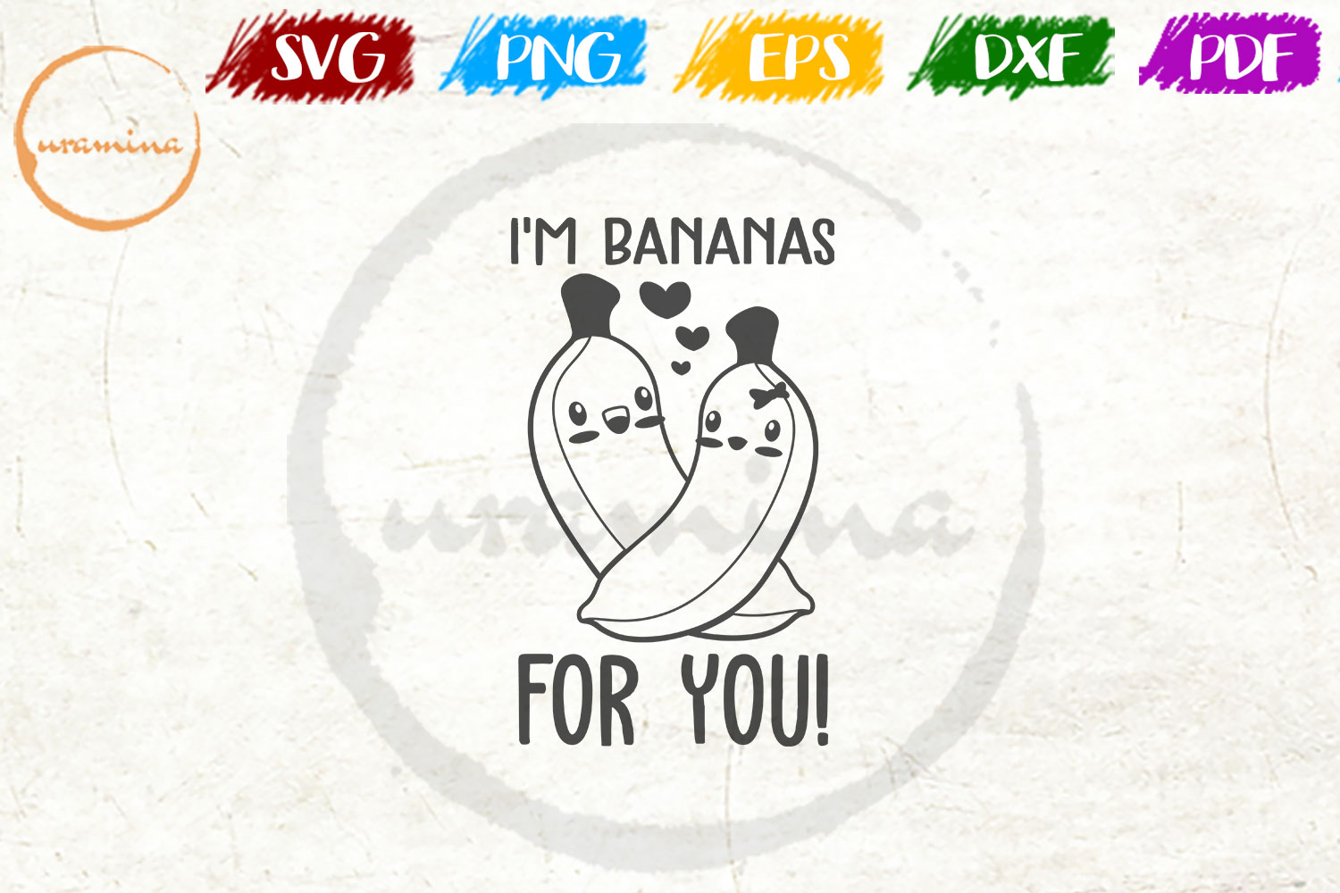 Download Free I M Bananas For You Graphic By Uramina Creative Fabrica for Cricut Explore, Silhouette and other cutting machines.