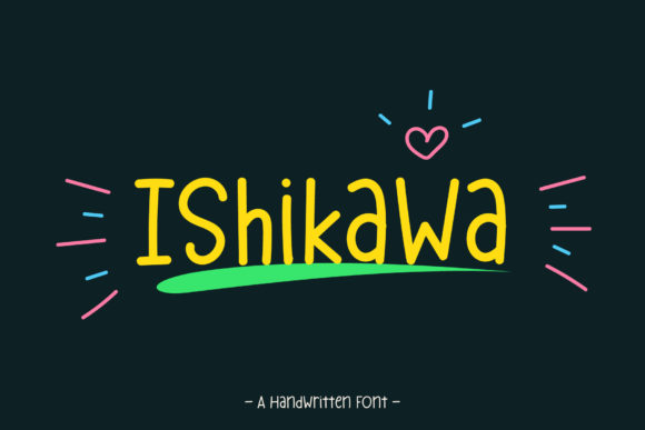 Print on Demand: Ishikawa Script & Handwritten Font By Wanida Toffy