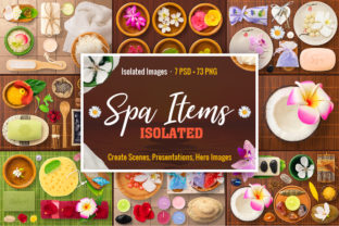 Isolated Spa Items Graphic Objects By pixaroma