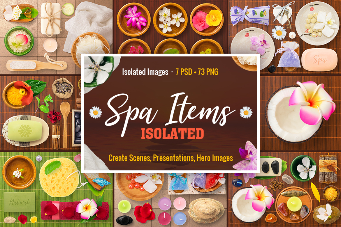 Download Free Isolated Spa Items Graphic By Pixaroma Creative Fabrica for Cricut Explore, Silhouette and other cutting machines.