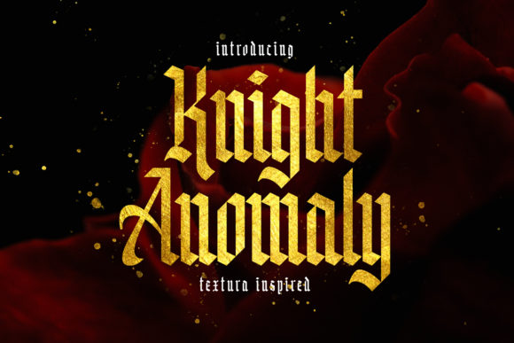 Print on Demand: Knight Anomaly Blackletter Font By Arterfak Project - Image 1