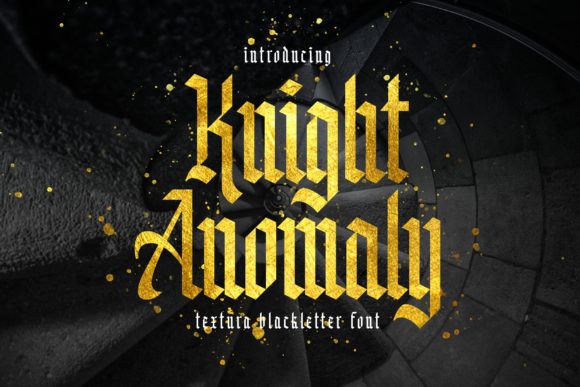 Print on Demand: Knight Anomaly Blackletter Font By Arterfak Project - Image 11