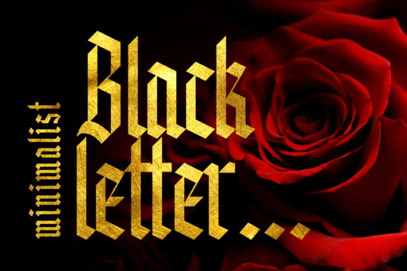 Print on Demand: Knight Anomaly Blackletter Font By Arterfak Project - Image 2