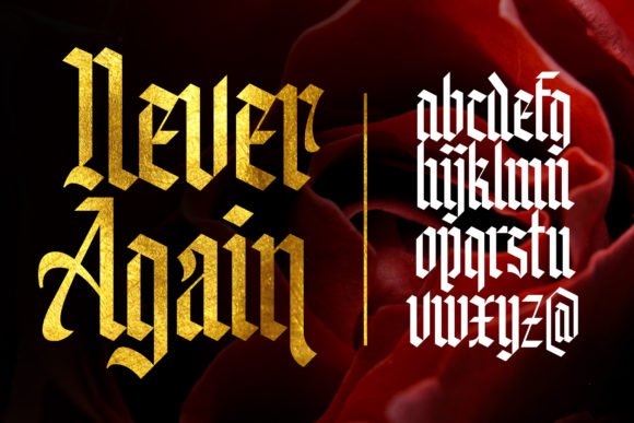 Print on Demand: Knight Anomaly Blackletter Font By Arterfak Project - Image 4