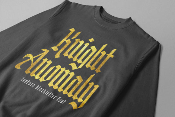 Print on Demand: Knight Anomaly Blackletter Font By Arterfak Project - Image 8