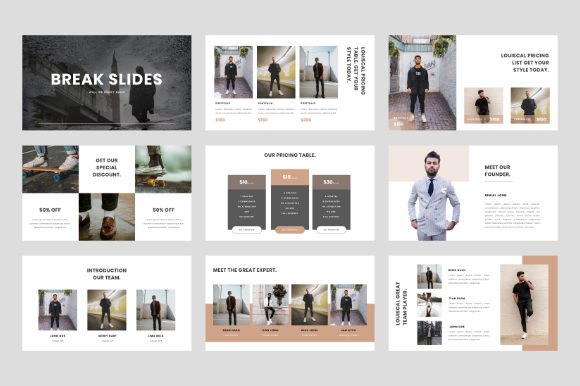 Download Free Louiscal Creative Powerpoint Template Graphic By Beadylab for Cricut Explore, Silhouette and other cutting machines.