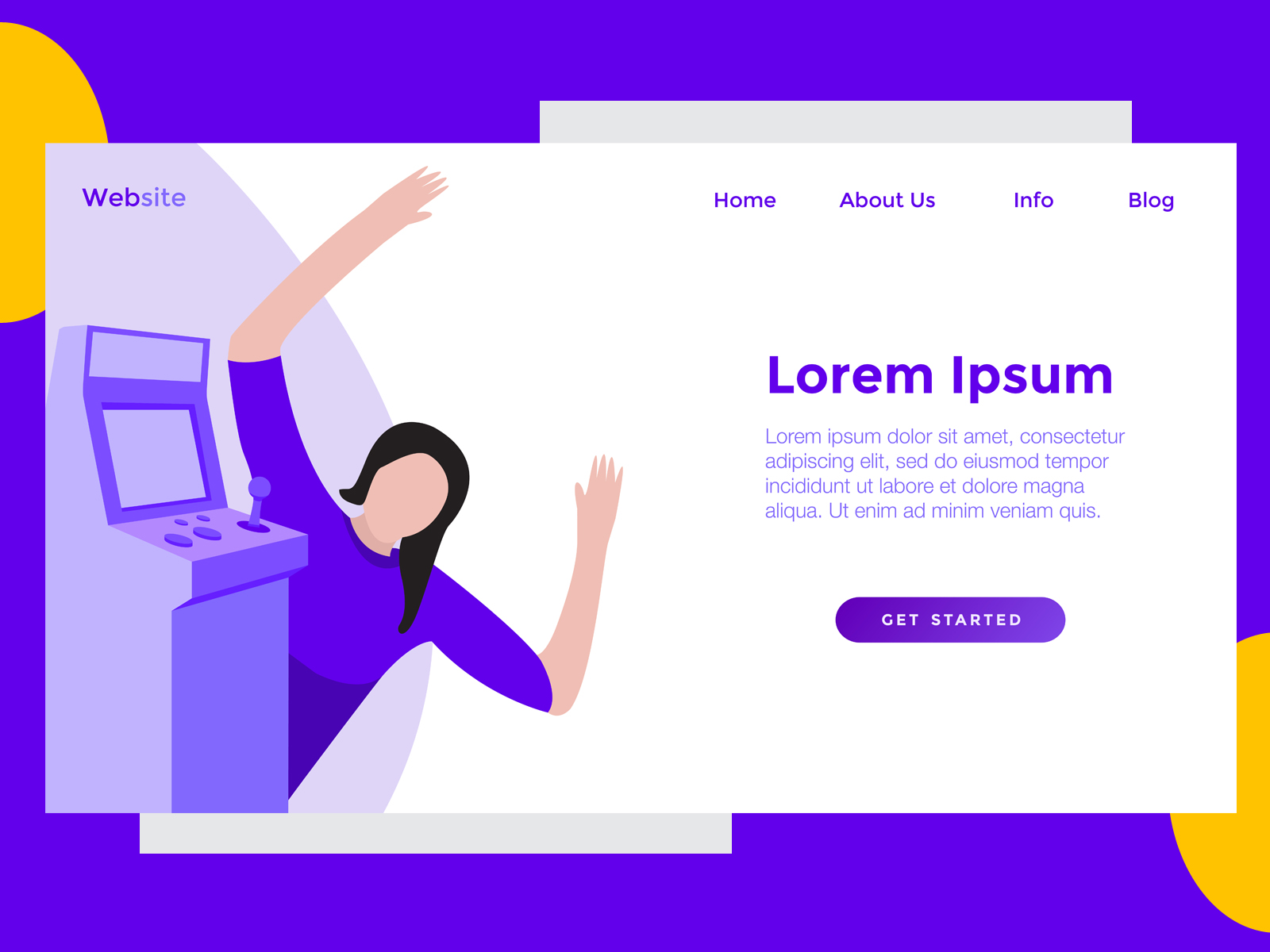 Download Free Landing Page Game Dingdong Purple Graphic By Archshape for Cricut Explore, Silhouette and other cutting machines.