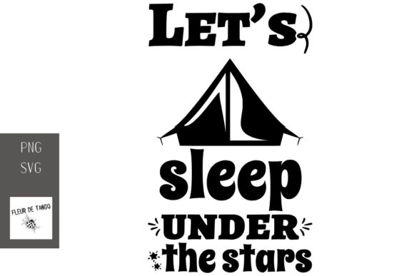 Print on Demand: Let's Sleep Under the Stars Graphic Print Templates By Fleur de Tango