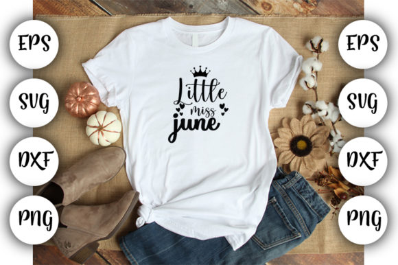 Download Free Little Miss June Graphic By Design Store Creative Fabrica for Cricut Explore, Silhouette and other cutting machines.