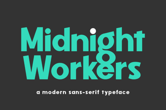 Print on Demand: Midnight Workers Sans Serif Font By figuree studio