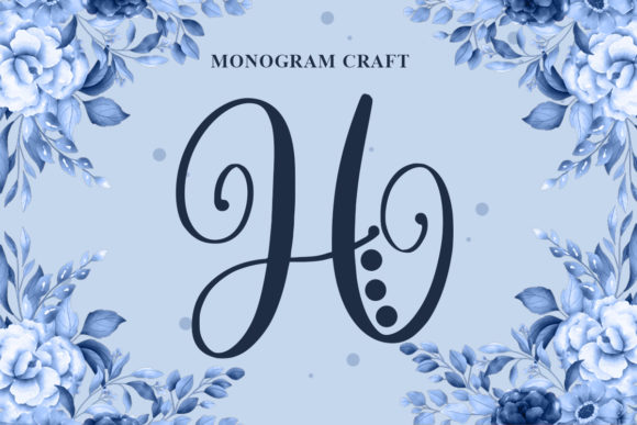 Print on Demand: Monogram Craft Decorative Font By Typefar