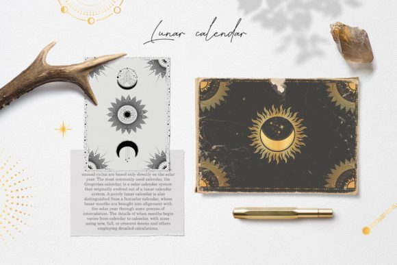 Download Free Moon Star Magic Celestial Pack Graphic By Alisovna Creative for Cricut Explore, Silhouette and other cutting machines.