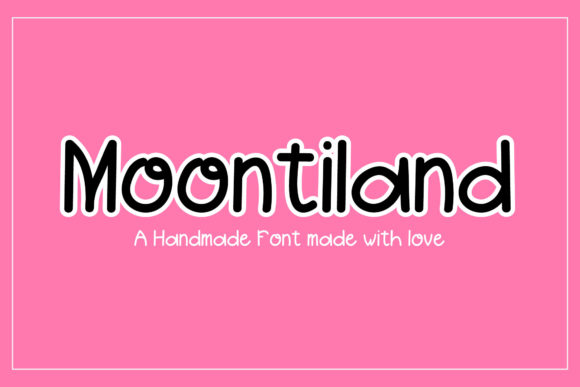 Print on Demand: Moontiland Sans Serif Font By indotemplates