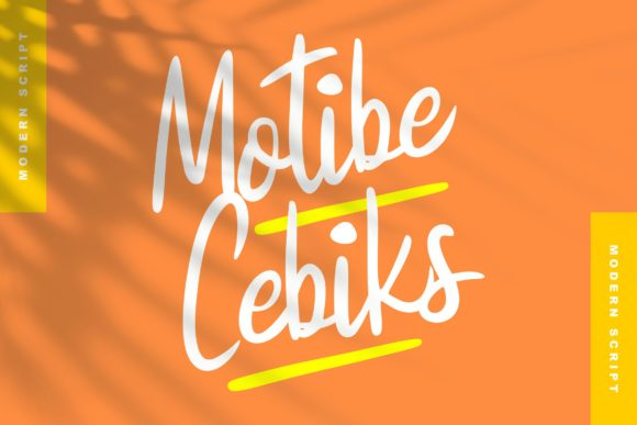 Print on Demand: Motibe Cebiks Script & Handwritten Font By Vunira