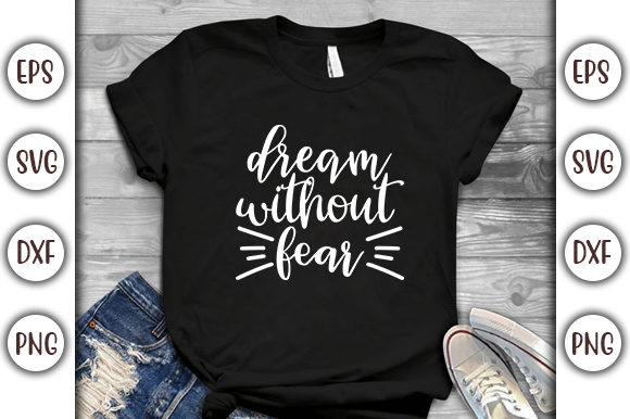 Download Free Motivational Quotes Design Dream Graphic By Graphicsbooth for Cricut Explore, Silhouette and other cutting machines.