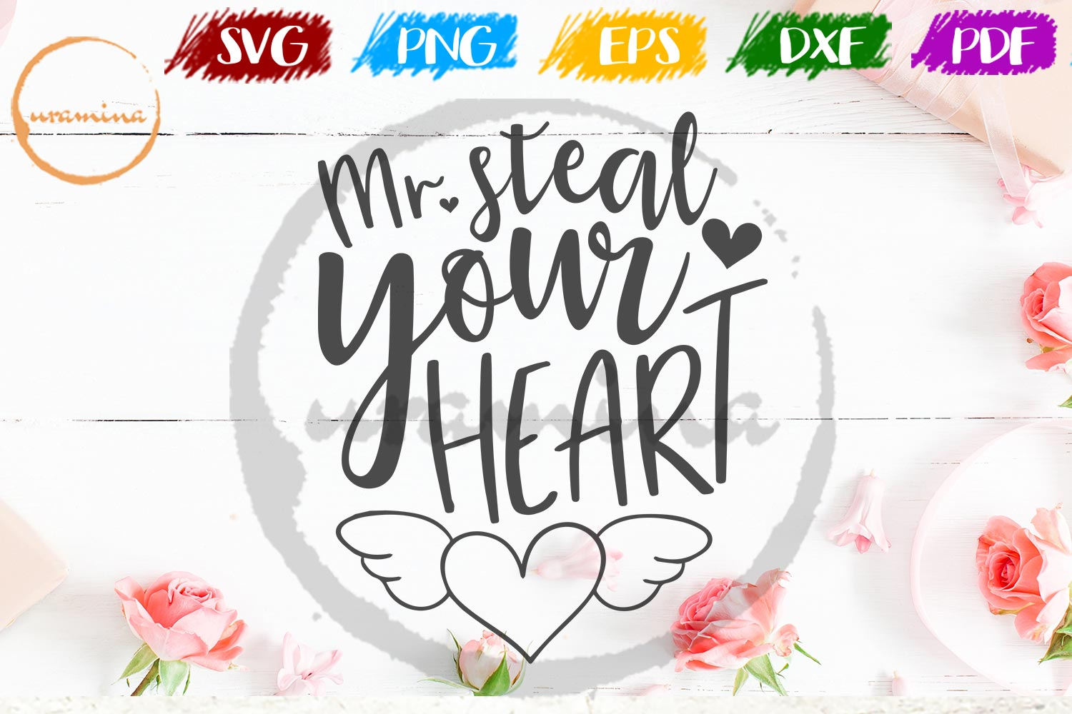 Download Free Mr Steal Your Heart Graphic By Uramina Creative Fabrica for Cricut Explore, Silhouette and other cutting machines.