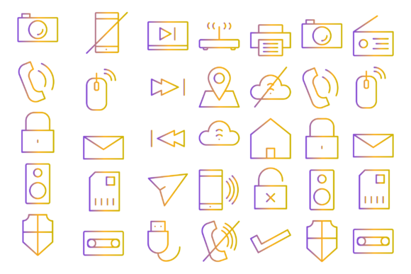 Download Free Multimedia Icons Graphic By Designvector10 Creative Fabrica for Cricut Explore, Silhouette and other cutting machines.