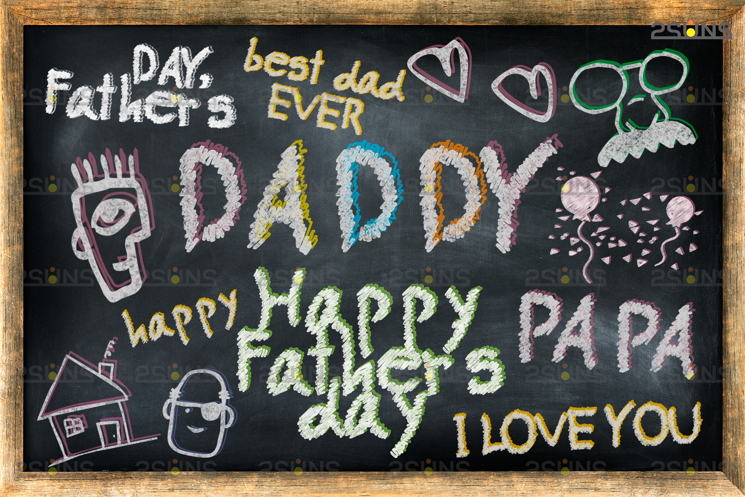 Download Free Overlay Father S Day Sidewalk Chalk Art Graphic By 2suns for Cricut Explore, Silhouette and other cutting machines.