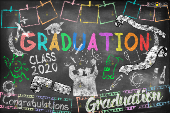 Overlay Graduation Sidewalk Chalk Art Graphic Actions & Presets By 2SUNS