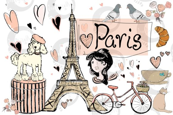 Paris Illustrations Grafik Illustrationen von Jen Digital Art