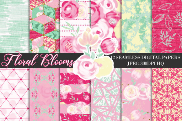Download Free Pink Wedding Bouquets Digital Papers Graphic By Lu Designs for Cricut Explore, Silhouette and other cutting machines.