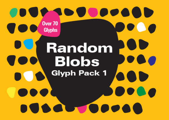 Print on Demand: Random Blobs 1 Dingbats Font By GraphicsBam Fonts