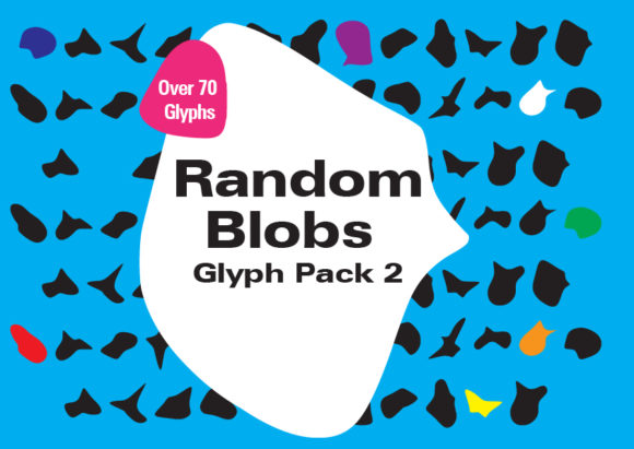Print on Demand: Random Blobs 2 Dingbats Font By GraphicsBam Fonts