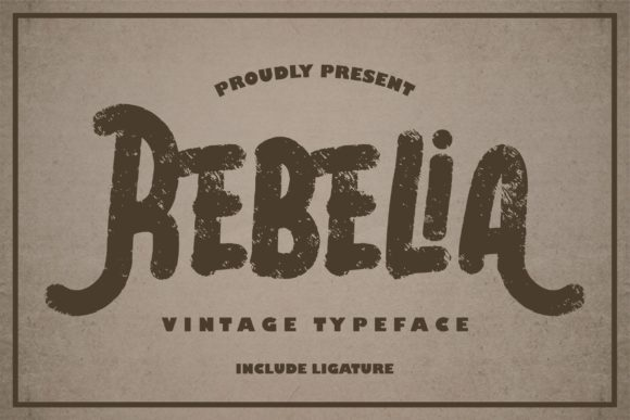 Print on Demand: Rebelia Script & Handwritten Font By Vunira