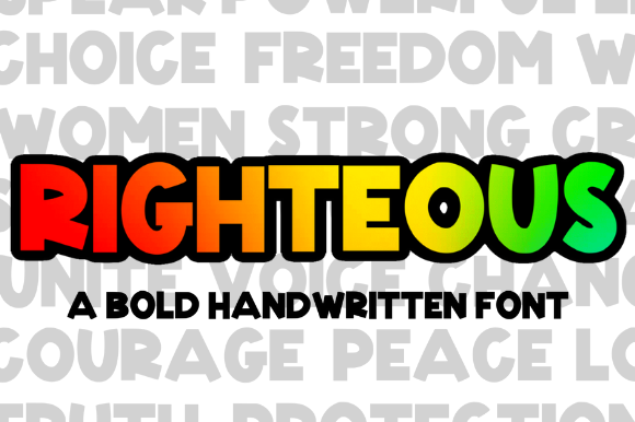 Print on Demand: Righteous Script & Handwritten Font By Sage Makers - Image 1