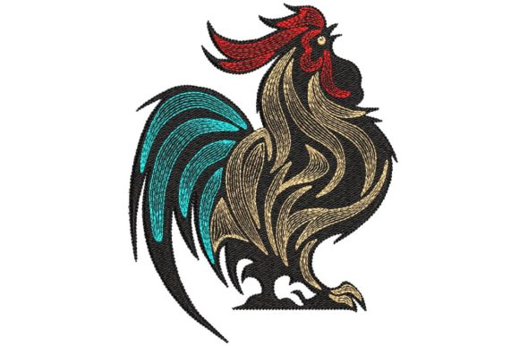 Rooster Birds Embroidery Design By BabyNucci Embroidery Designs