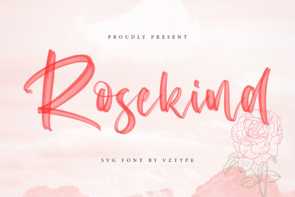 Download Free Rosekind Font By Vz Type Creative Fabrica for Cricut Explore, Silhouette and other cutting machines.