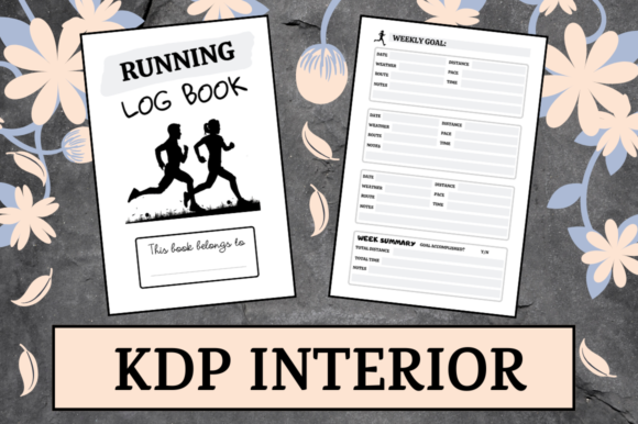 Download Free Running Log Book Kdp Interior Graphic By Hungry Puppy Studio SVG Cut Files
