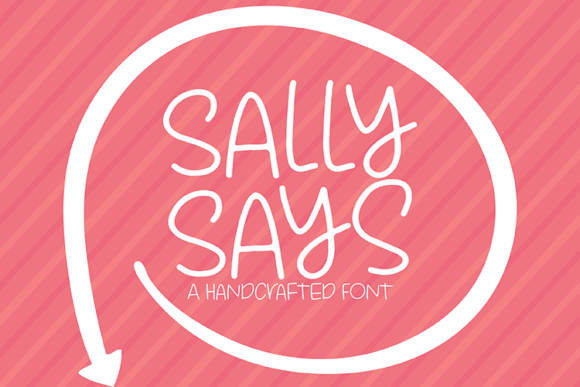 Print on Demand: Sally Says Sans Serif Font By carrtoonz