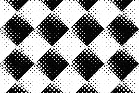 Seamless Black and White Dot Pattern Gráfico Moldes Por davidzydd