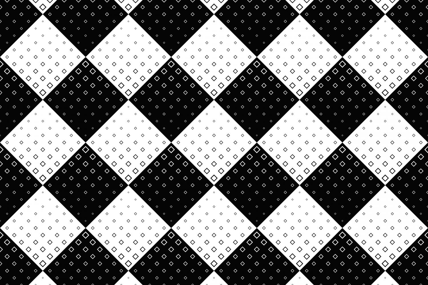Download Free Seamless Black And White Square Pattern Graphic By Davidzydd for Cricut Explore, Silhouette and other cutting machines.