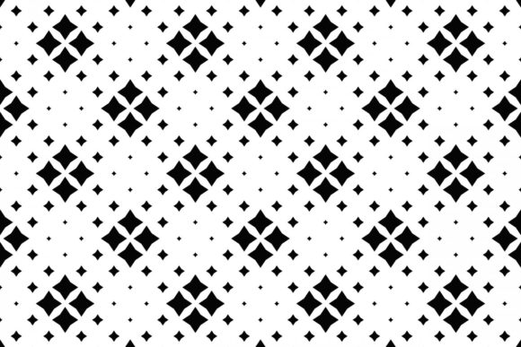 Download Free Seamless Black And White Star Pattern Graphic By Davidzydd for Cricut Explore, Silhouette and other cutting machines.